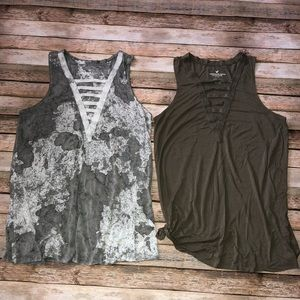American Eagle Distressed Tank Tops